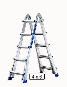 Alu Leiter Klappleiter 4 x 6 Teleskopleiter Stehleiter Mehrzweckleiter