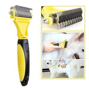 Hundebürste Katzenbürste Unterwollbürste Unterfellbürste Fellkamm Fellpflege-Werkzeug für langhaarige Haustiere