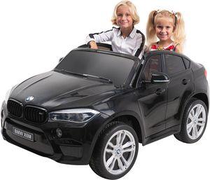 Kinder-Elektroauto BMW X6M F16 XXL Zweisitzer Lizenziert (Schwarz)