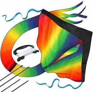 Kinder-Drachen Riesiger Regenbogen-Leichtwinddrache Drachenschnur Lenkdrachen