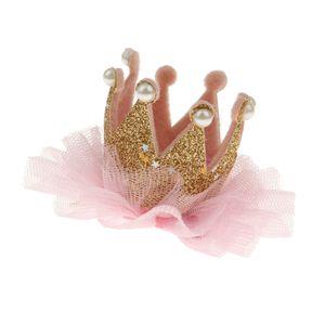 Blumenmädchen Hochzeit Prinzessin Fauxperle Seidengarn Krone Spange Haarnadel Gold