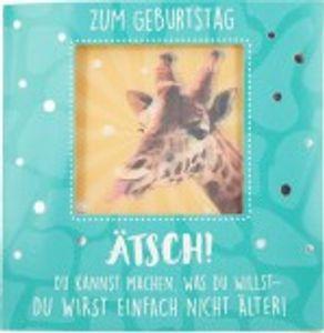 Geburtstagskarte Klappkarte 3D mit Musik & Licht Zum Geburtstag Ätsch! Du kannst machen..
