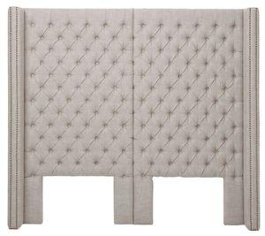 Casa Padrino Luxus Bett-Kopfteil 200 x H. 180 cm - Designer Schlafzimmermöbel