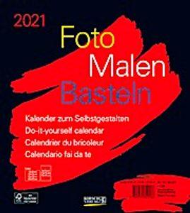 Foto-Malen-Basteln Bastelkalender schwarz 2021