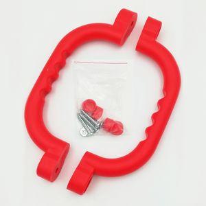 Handgriffe für Spielgeräte und Klettergerüste, per Paar aus HDPE Kunststoff rot