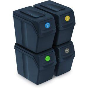 Mülleimerset Sortibox Abfalleimer 4x20l Anthrazit Set Sortibox Müllbehälter Mülltrenner Trennkörbe