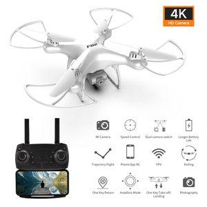 FPV Drohne mit Full HD Dual-Kameras GPS-Heimkehr, 20 Min Flugzeitr RC Drohne,4K Weiß