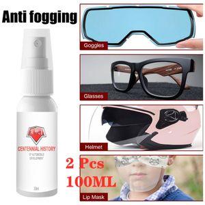 2 Stück 100ml Antibeschlag-Spray einen lang anhalzenden Beschlagschutz Anti Fog für Brillen Skimasken Spiegel Taucherbrille