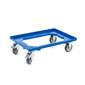 Transportroller 2 Lenkrollen 2 Lenkrollen gebremst blau