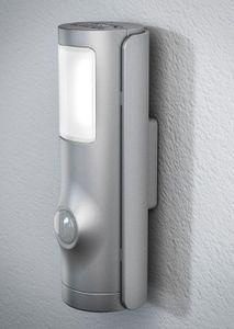 OSRAM NIGHTLUX TORCH SILBER Batteriebetriebenes LED Nachtlicht mit Bewegungsmelder