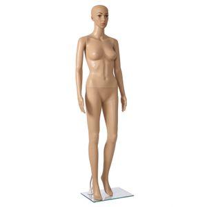 SONGMICS weibliche Schaufensterpuppe 175cm 360° drehbar Frauen Schaufensterfigur Fashion Doll MPLM07