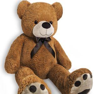 XL-XXL Teddy Teddybär | 100-175cm | Valentinstag Geschenk | Plüschbär Kuscheltier Stofftier Plüschtier Farbe Braun, Größe:XXL - 175cm