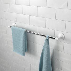 Umbra Handtuchstange Flex Sure-Lock, Handtuchhalter, ausziehbar, Aluminium, Weiss, Chrom, 1014158-158