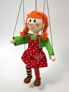 Dekoartikel Marionette Mädchen