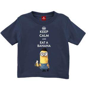 Kids Shirt Minions - KEEP CALM AND EAT A BANANA , Größe:140