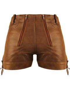 Bockle® Cracker Pants Lederhose Leder Jeans Leder Shorts Pants kurze Lederhose Herren  , W33/L30