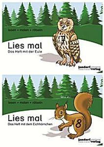 Lies mal! Das Heft mit der Eule / Das Heft mit dem Eichhörnchen, 2 Bde.