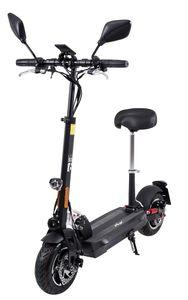 eFlux Lite Six 1000W Elektro Roller E-Scooter Straßenzulassung Elektroroller (Schwarz)