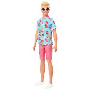 Barbie Ken Fashionistas Puppe im Shirt mit Früchteprint, Anziehpuppe