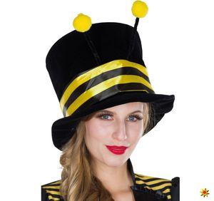 Damen Zylinder Hut Biene, Kostüm-Zubehör