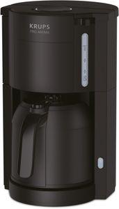 Krups KM 3038 ProAroma Thermo-Kaffeemaschine, Farbe:Schwarz