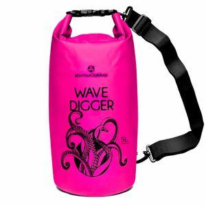 DryBag (wasserdichter Seesack / Tasche) Krake 5L pink