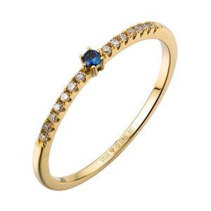Ring 54 - 585 Gelbgold - Brillanten Saphir