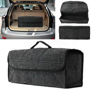 Kofferraumtasche Filz Kofferraum Organizer Grau Rücksitztasche mit Klett Werkzeug Tasche