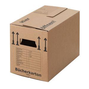 15 Bücherkartons Profi 2-wellig Bücherkiste 40kg Umzugsmaterial