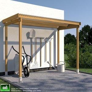Unterstand 3.0 x 1.5 m für Gartengeräte oder Kaminholz