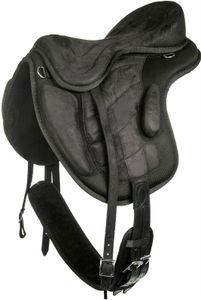 HKM Baumloser Sattel, Farbe:9100 schwarz, Größe:17'