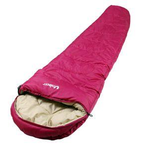Unibest Mumienschlafsack mit Kopfteil NS80 mit Reißverschluss links pink