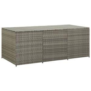 vidaXL Gartenbox Poly Rattan 180x90x75 cm Grau