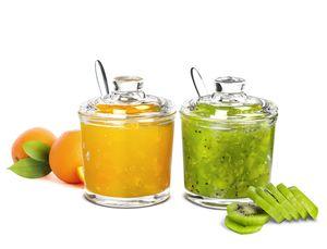 2-tlg. Marmeladendosen Set Parmesandosen Gewürzdosen Honigtopf Marmeladentopf