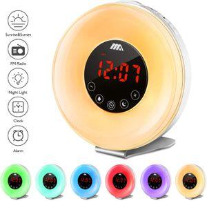 ADORIC Wake Up Licht Lichtwecker Tageslichtwecker Sonnenaufgang Lichtwecker FM Radio Wecker Schlafdenlampe Zimmerlichter für Kinder & Erwachsene
