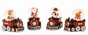 4 Stück Schneekugel Lokomotive Weihnachten je Ø 4,5 cm 4 Motive