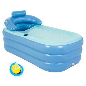 INTIME aufblasbare Badewanne faltbar klappbar beweglich mit Pumpe für Erwachsene Kinder PVC