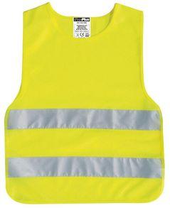 IWH Kinder Pannenweste/Warnweste DIN EN 1150 gelb