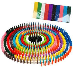 Domino Spielzeug Set 200 Stuecke Bunte Domino Spiel Bausteine Paedagogische Jungen Maedchen Kinderspielzeug Geschenke