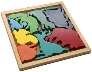 Lege-Puzzle Tiere bunt, 18x18x1,7 cm