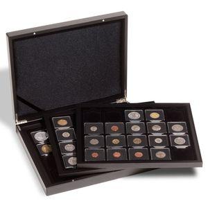 Leuchtturm Münzkassette für 60 QUADRUM-Münzkapseln Münzen Sammelbox Schatulle
