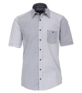 Casa Moda - Casual Fit - Herren kurzrarm Freizeit Hemd mit Kent Kragen (993143400), Größe:L, Farbe:Blau (100)