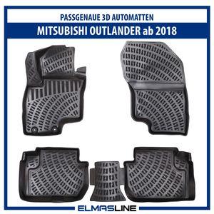 Design 3D Gummimatten Set für MITSUBISHI OUTLANDER ab 2018   Hoher 5cm Rand