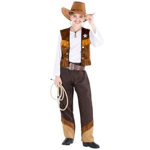 dressforfun Jungenkostüm Cowboy Luke - 140 (10-12 Jahre)