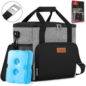 arteesol Kühltasche 17L Faltbar Isoliertasche Lunch Bag Campingtasche Picknicktasche