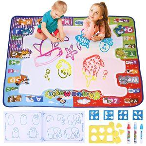 Magische Zeichenmatte Maltafel Magic Matte für Kleinkinder Kinder Geschenk für Mädchen und Jungen ab 3 Jahre Größe 78 x 78 cm