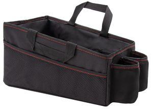 Auto Kofferraumtasche / Rücksitztasche, 30x20x18 cm, schwarz, mit Getränkehalter und Seitentaschen