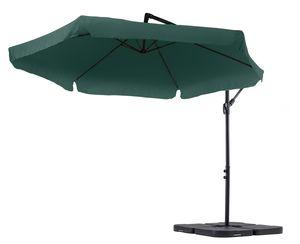 diVolio Garten Sonnenschirm EMPOLI Ampelschirm mit Kurbelvorrichtung UV-Schutz Wasserabweisende Bespannung Sonnenschirm Schirm Gartenschirm Marktschirm - Grün