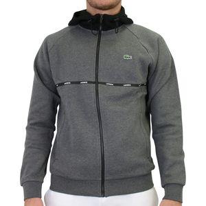 Lacoste Sport Sweatshirt Herren Sonstige Pullover Dunkelgrau/Schwarz/Weiß (SH1518 RH5) Größe: M