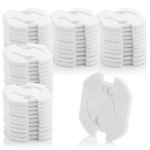 deleyCON 50x Kindersicherung für Steckdosen und Steckdosenleisten mit Drehmechanik Kinderschutz Steckdosenschutz Steckdosensicherung Baby Kleinkinder